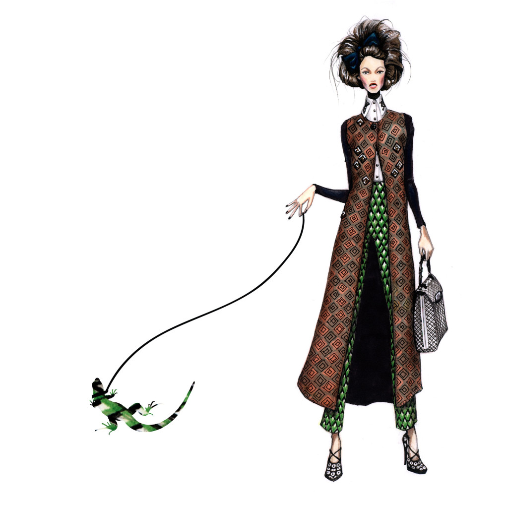 Inspired by Nature, fashion Illustration