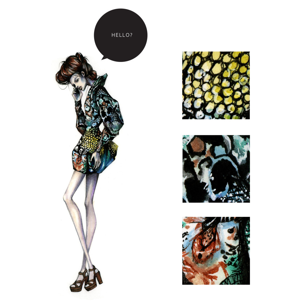 digital prints fashion illustration