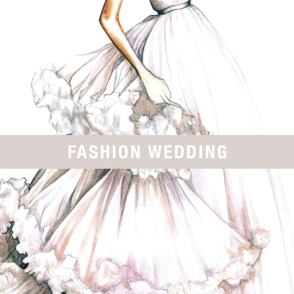 Fashion Gown Drawing Fashion Wedding Gowns And