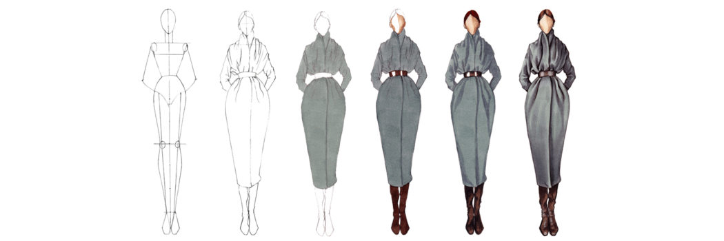Drawing Of Fashion Design Models