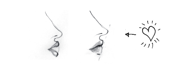 How To Draw Lips At A Three Quarter View